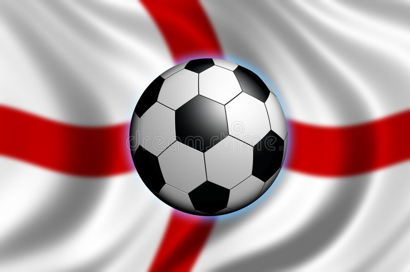 Soccer in England royalty free illustration
