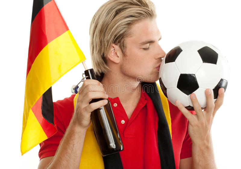 Download Soccer fan stock image. Image of flag, kiss, face, alone - 20260783