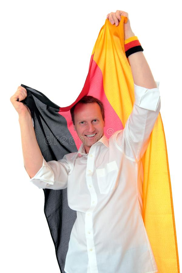 Download Soccer Fan With German Flag Royalty Free Stock Image - Image: 24385646