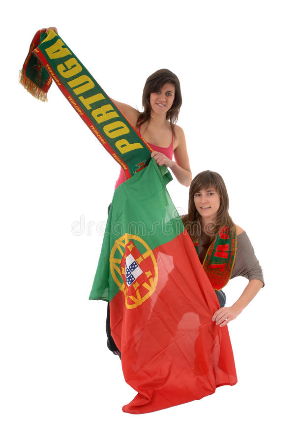 Soccer fans stock images