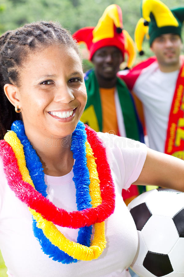 Download Soccer fans stock photo. Image of championship, fangirl - 13764410