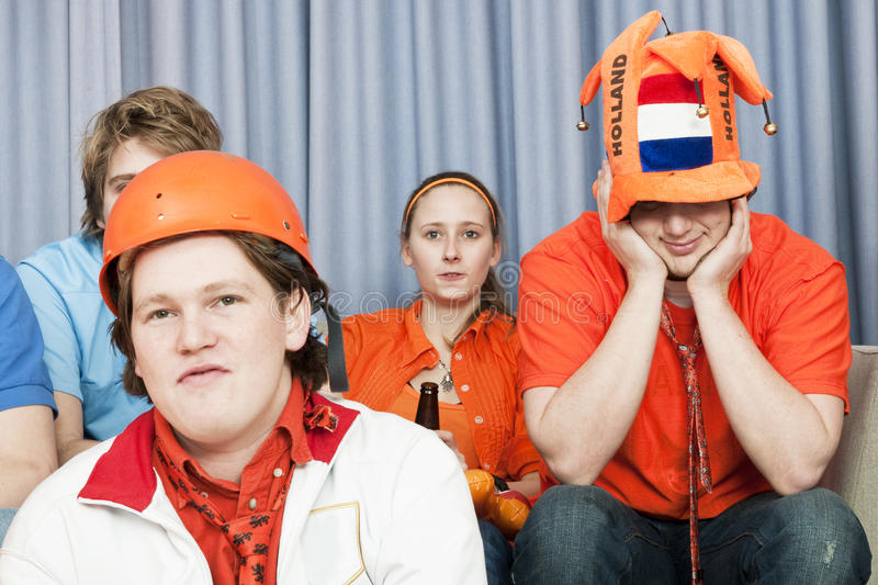 Download Soccer fans in disbelief stock photo. Image of expression - 14359412