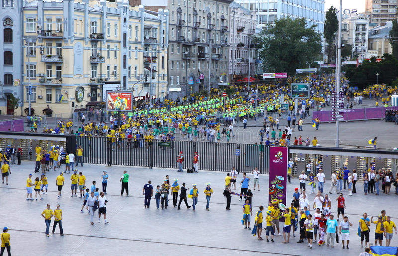 Download Soccer Fans Go To The Olympic Stadium Editorial Image - Image: 25497605