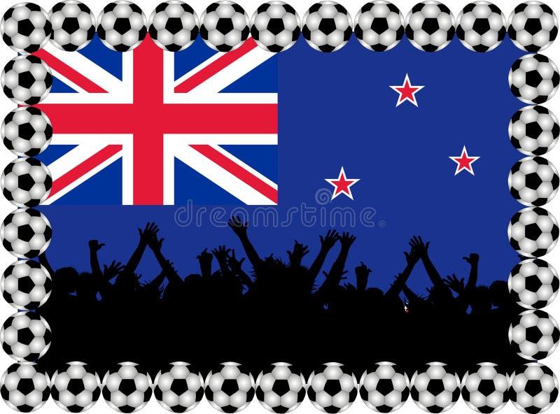 Soccer fans New Zealand royalty free illustration