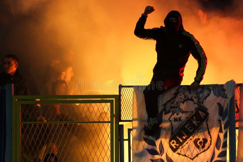 Soccer fans stock photo