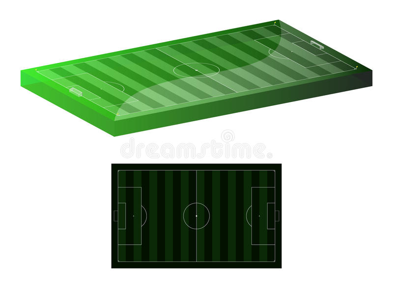 Download Soccer field stock vector. Illustration of proportional - 13279180