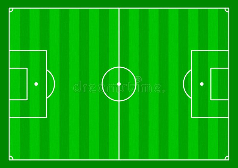 Soccer field. Illustration of a Soccer field from above royalty free illustration