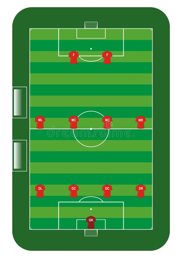 Download Soccer field stock vector. Illustration of sketch, practice - 28470356