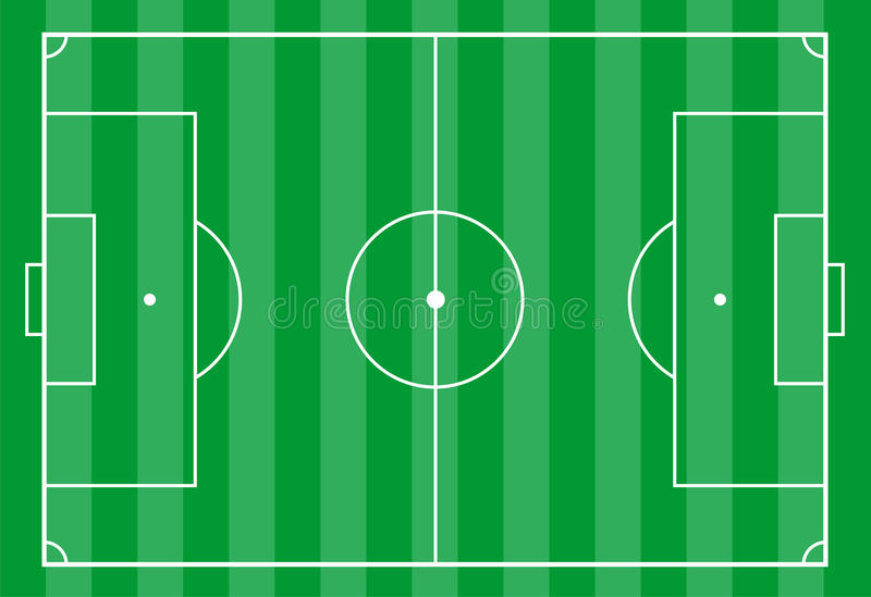 Soccer field from above stock photos