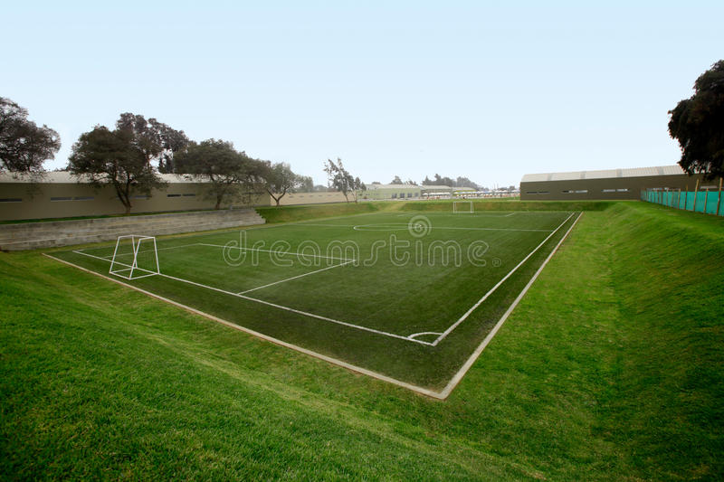 Soccer field. Also known as Football field in southamerica stock photography