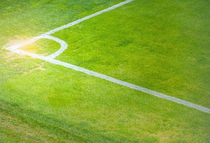 Soccer field corner royalty free stock photography