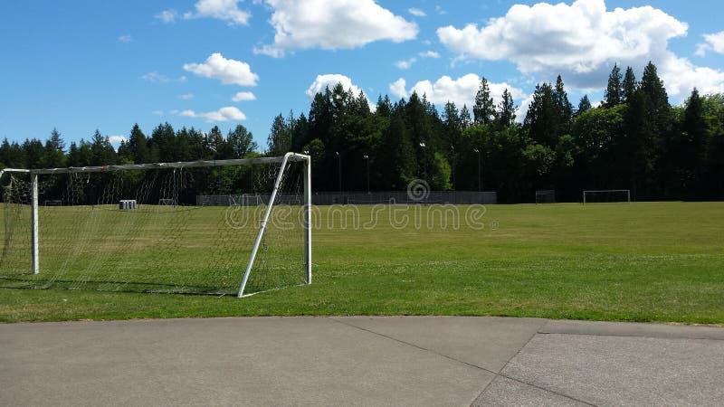 Soccer Field Daydream stock foto's