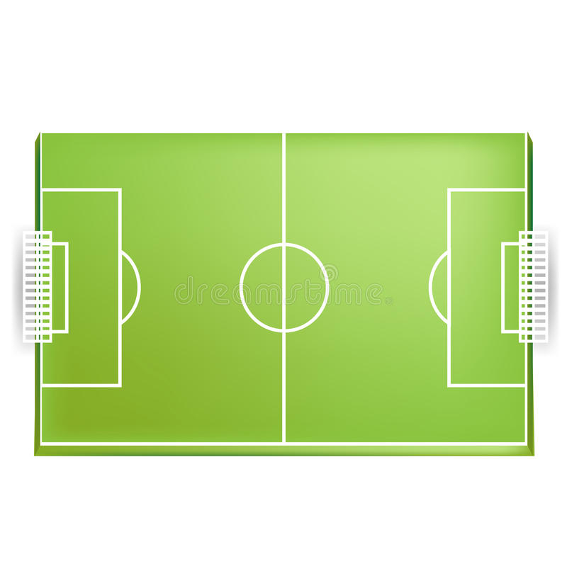 Download Soccer Field Or Football Field From Above View Stock Vector - Image: 25799715