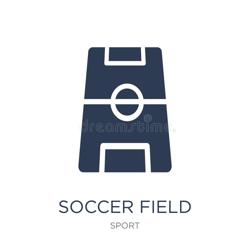Soccer field icon. Trendy flat vector Soccer field icon on white royalty free illustration