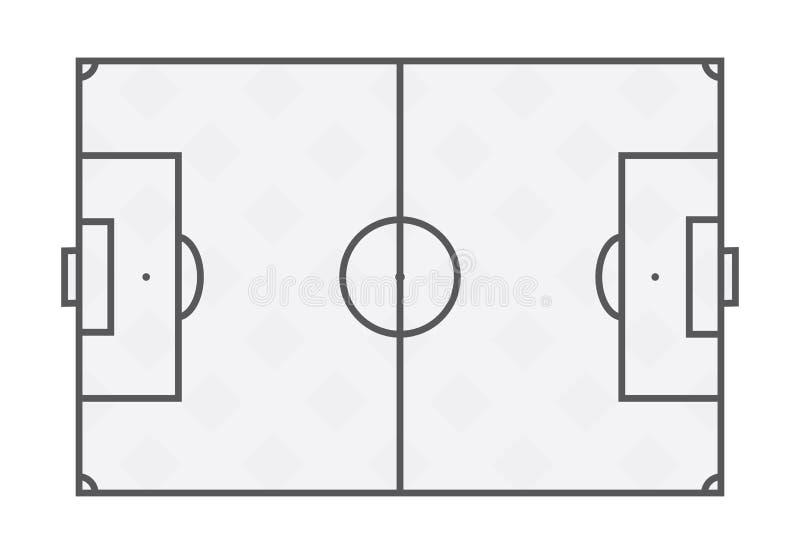 Soccer Field Lines On White Background. Stock Vector - Illustration ...