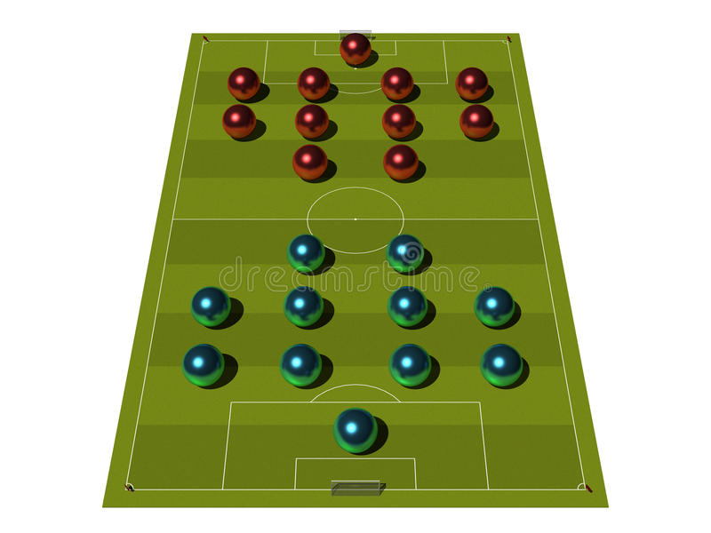 Download Soccer Field With The Tactical Scheme. Stock Illustration - Illustration: 10459104