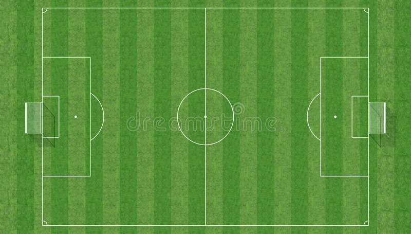 Soccer Field From Top View Stock Illustration