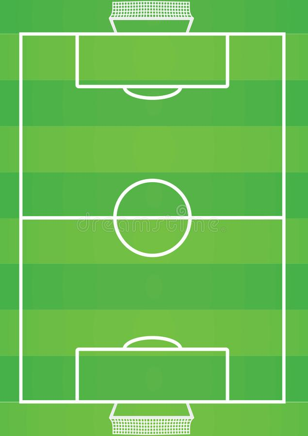 Soccer field. top view stock illustration