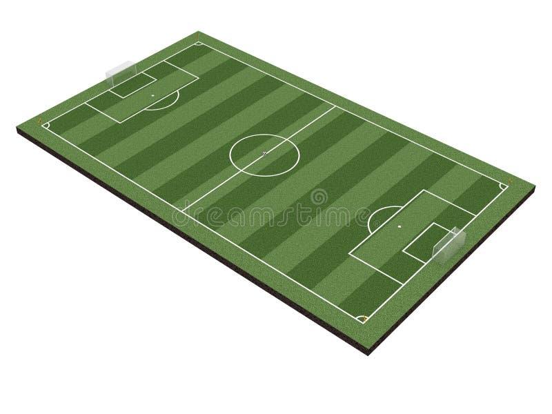 Download Soccer field on white stock illustration. Illustration of club - 6123061