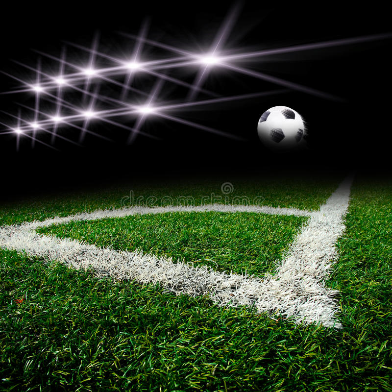 Free Soccer Field With Light Stock Image - 27716431