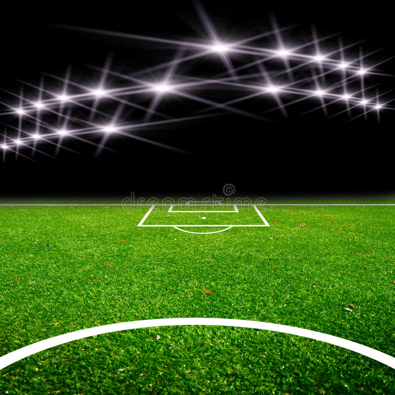 Free Soccer Field With Light Royalty Free Stock Photography - 27951457