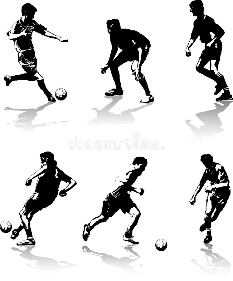 Soccer figures #2 stock photos
