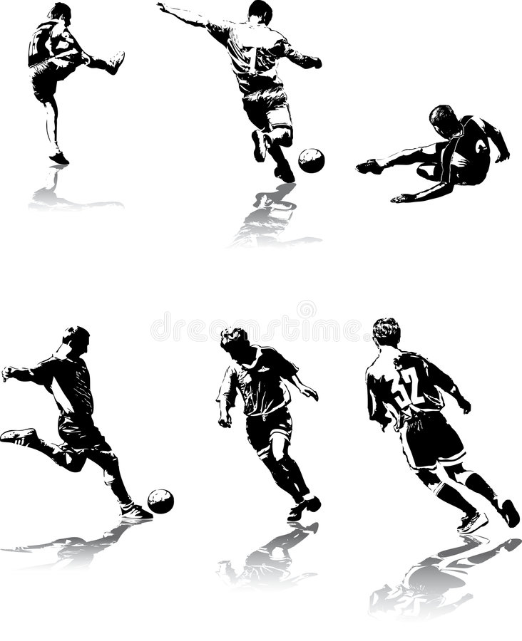 Soccer figures #3 stock photos