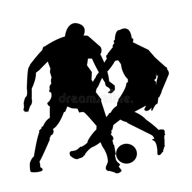 Soccer figures inaction vector illustration