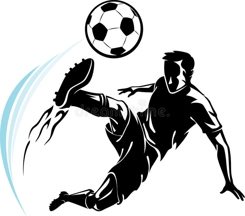 soccer flame kick stock illustration