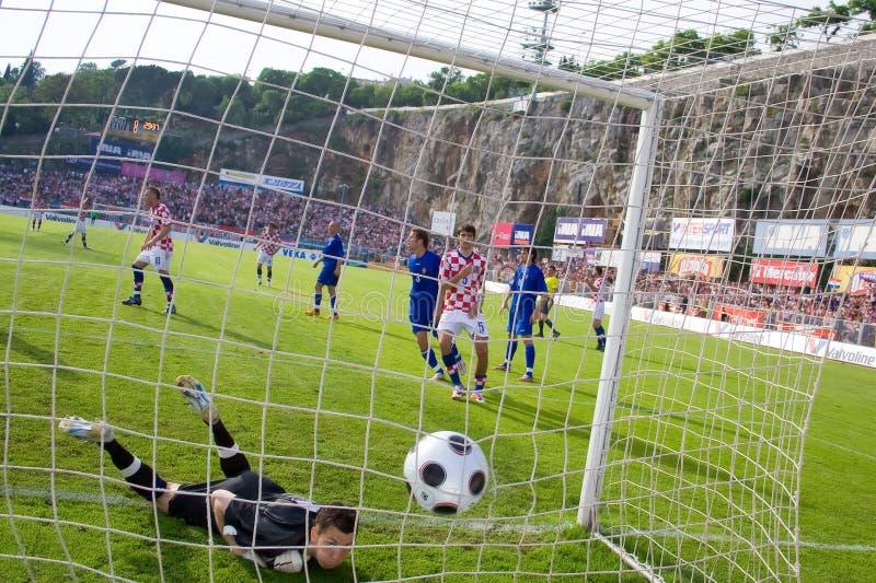 Soccer of footbal (goal) stock photo