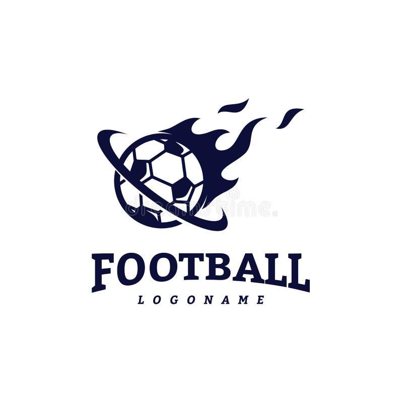 Soccer Football Badge Logo Design Templates. Sport Team Identity Vector Illustration.  royalty free illustration