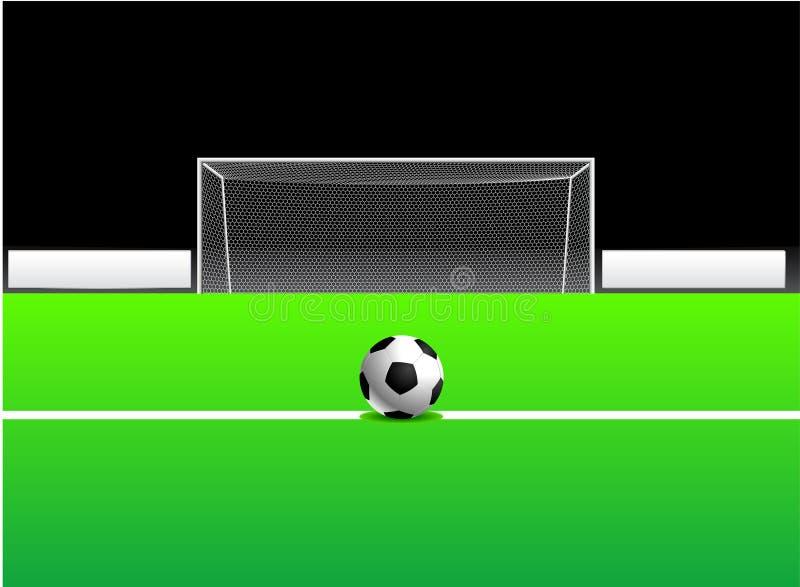 Soccer/Football Ball and Goal stock illustration
