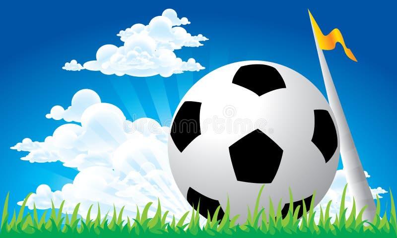 Soccer football corner kick vector illustration