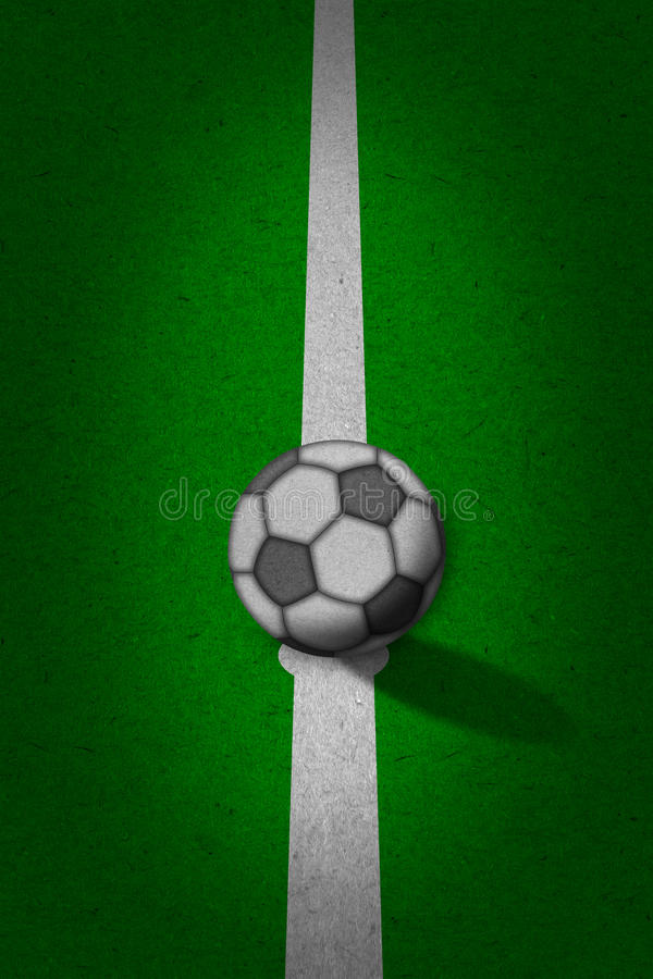 Download Soccer - Football Field With Lines On Grunge Paper Stock Photography - Image: 24775632