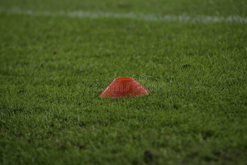 Soccer football field training equipment royalty free stock image