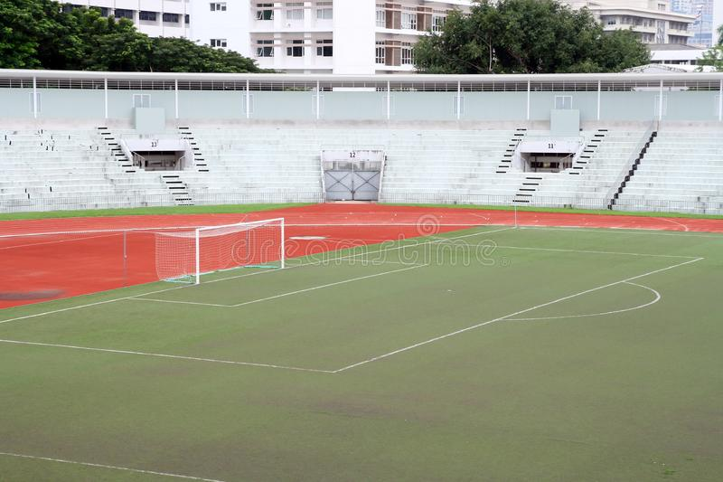 Download Soccer Football Goal With Penalty Area Stock Photo - Image of artificial, grass: 16757974