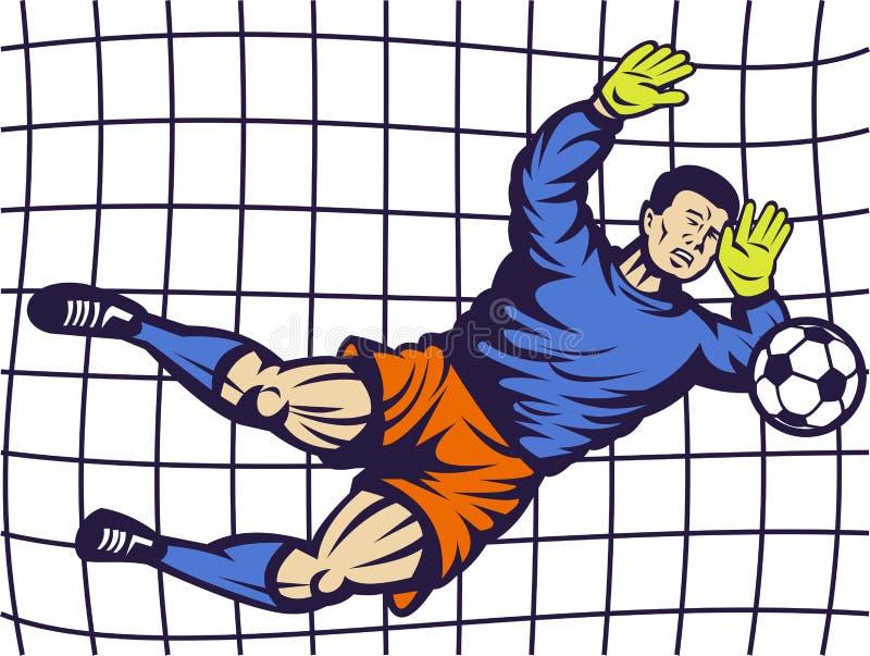 Download Soccer Football Goalie Keeper Goal Stock Illustration - Illustration of save, jumping: 14849500