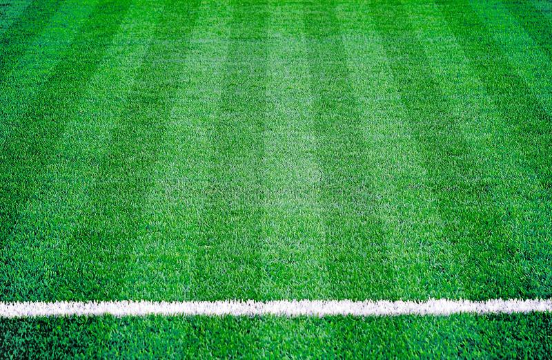 Soccer football grass field stock images