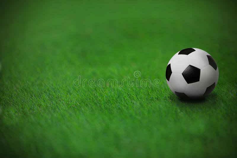 Download Soccer Football On Green Grass In Stadium Stock Photo - Image: 26928274
