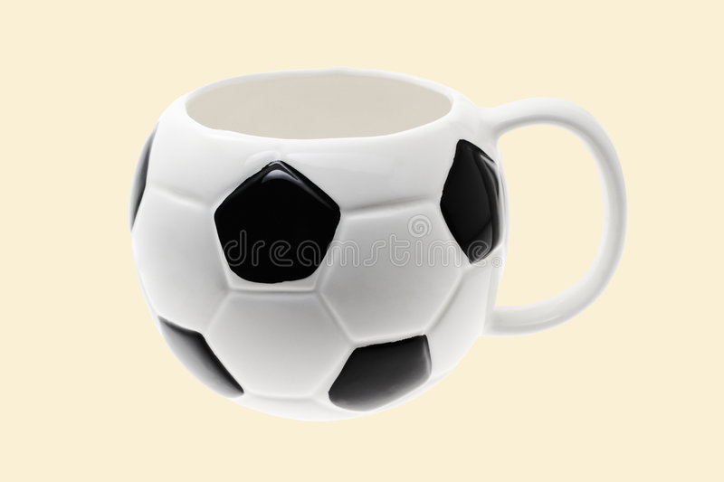 Soccer or football mug stock photography