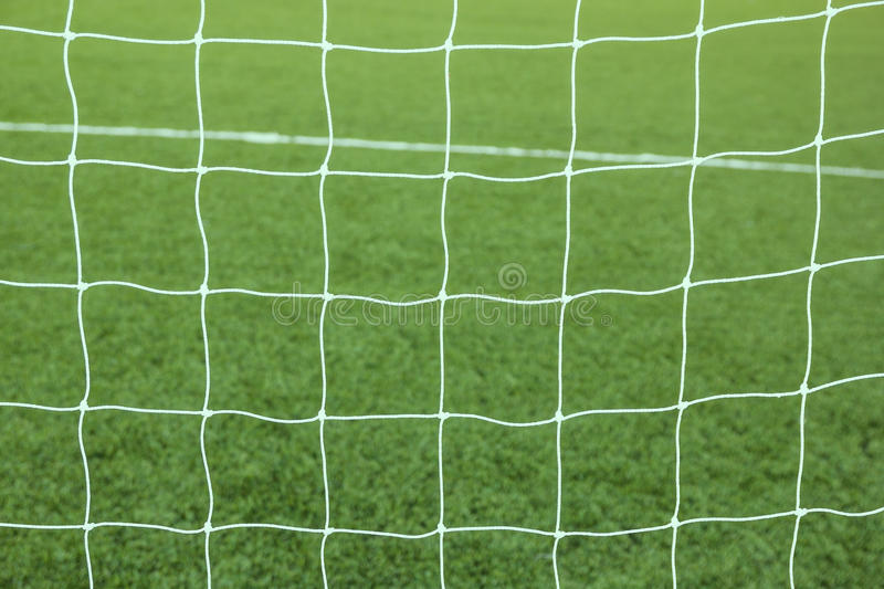 Soccer football net background royalty free stock image