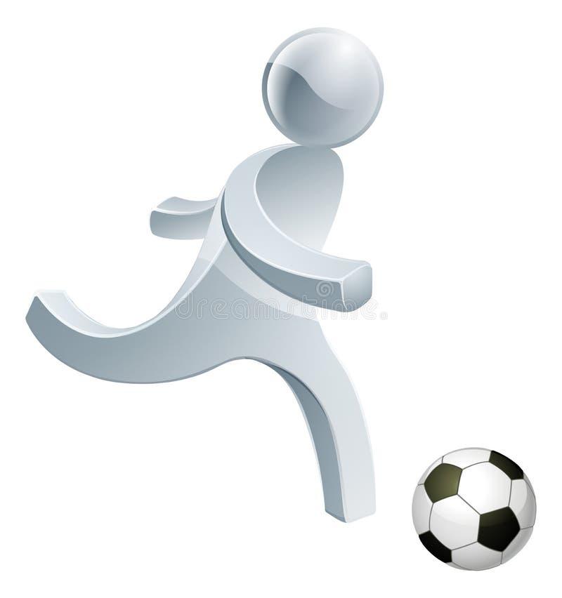Soccer football person mascot vector illustration