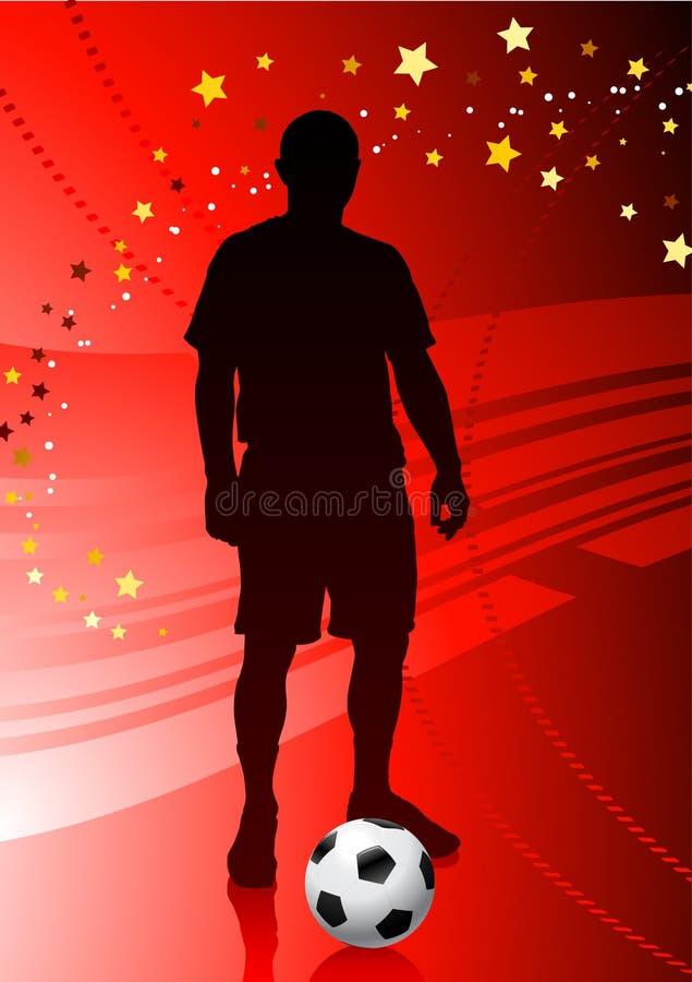 Download Soccer/Football Player On Red Background Stock Illustration - Illustration of back, match: 14272159