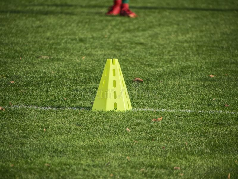 Soccer football playground  during the team training. Before the match. Exercises for football soccer youth team royalty free stock photo