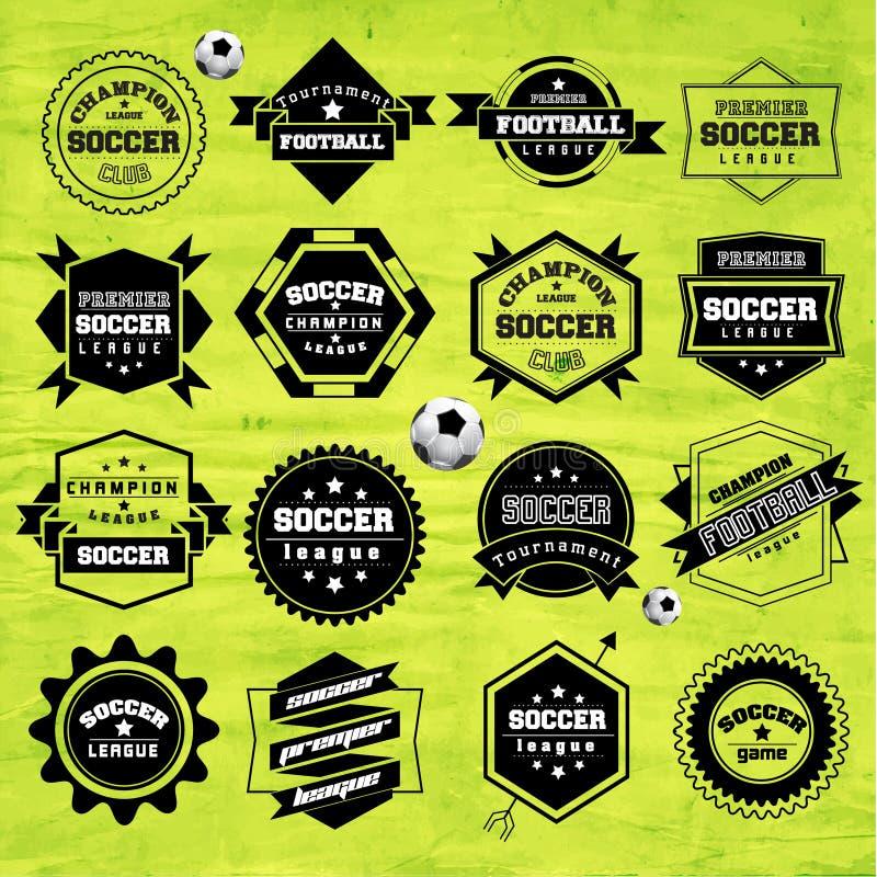 Soccer Football Typography Badge Design Element. Vector stock illustration