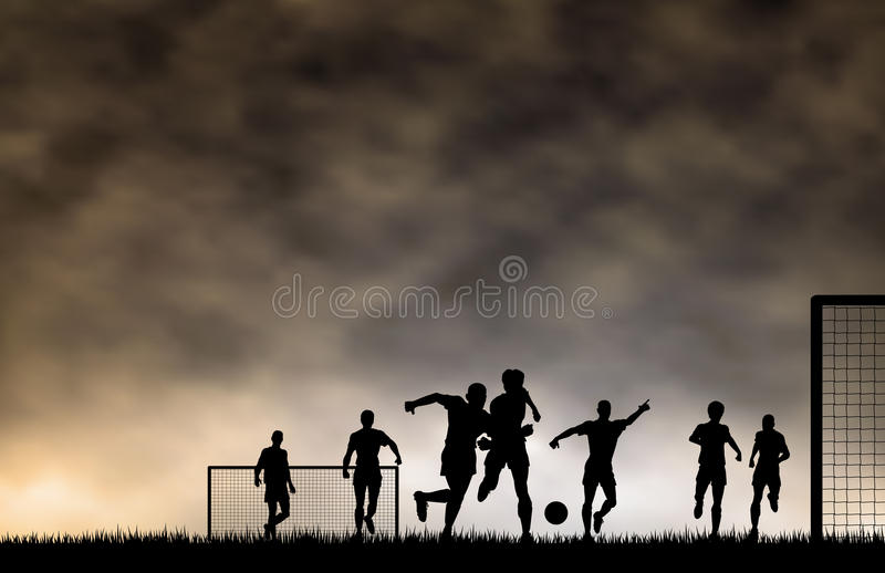 Soccer game royalty free illustration