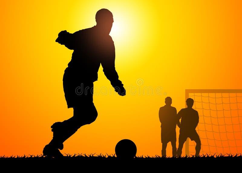 Soccer game stock image