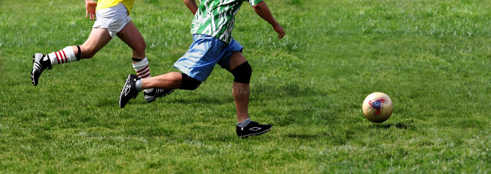 Soccer game royalty free stock image