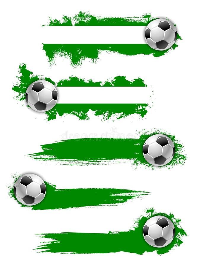 Vector football soccer ball icon or banner vector illustration