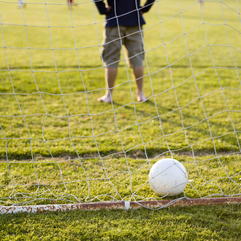 Download Soccer game with family stock image. Image of exercise - 9838581